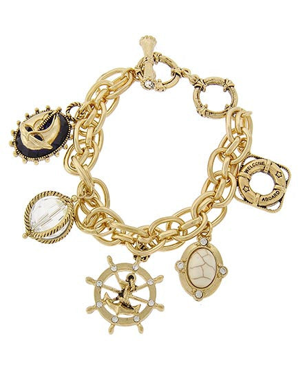 Sea Life Sailor Charm Bracelet - Ashlays