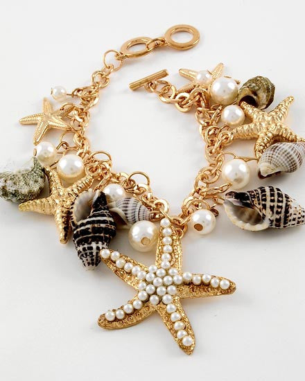Seashell Charm Bracelet - Ashlays