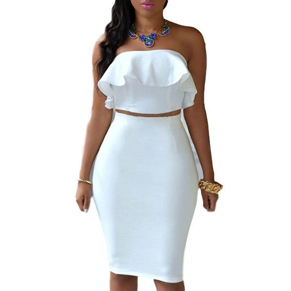 Sexy Sleeveless White Dress - Ashlays