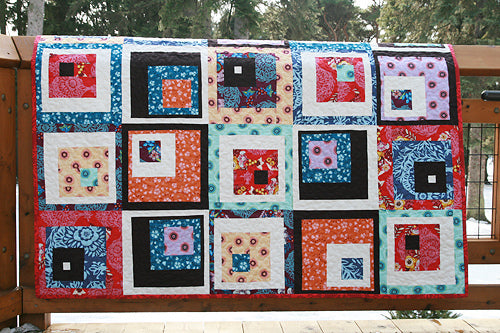 Off-Centered Squares Quilt Pattern - PDF