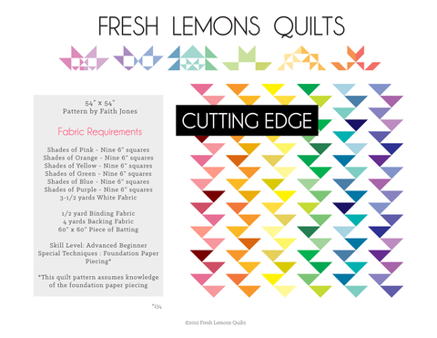 Cutting Edge Quilt Pattern - PDF