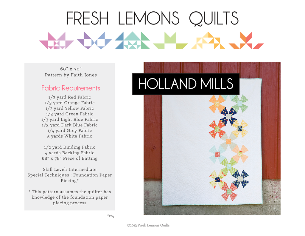 Holland Mills Quilt Pattern - PDF