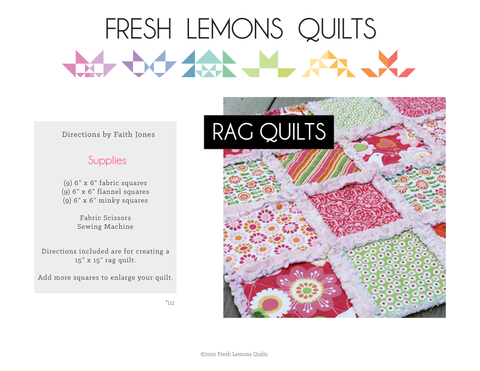 Rag Quilt Instructions - PDF