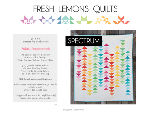 Spectrum Quilt Pattern - Printed & Shipped
