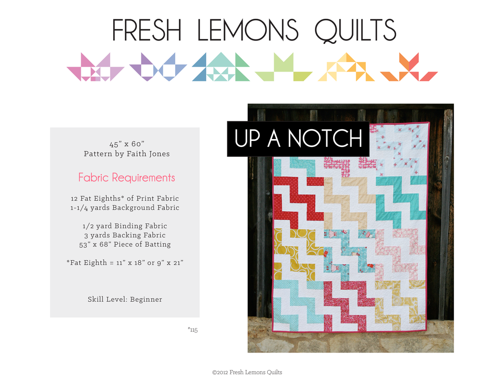 Up a Notch Quilt Pattern - PDF