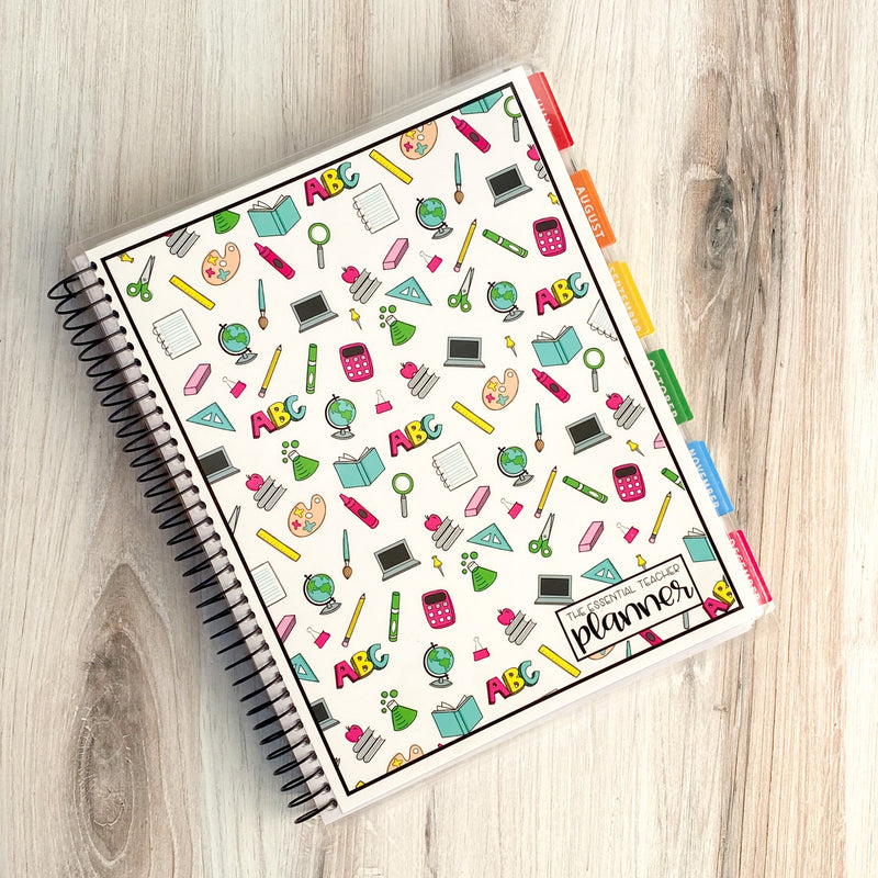 The Essential Teacher Planner- Bright School Doodles