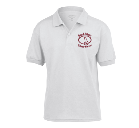White Polo with Logo