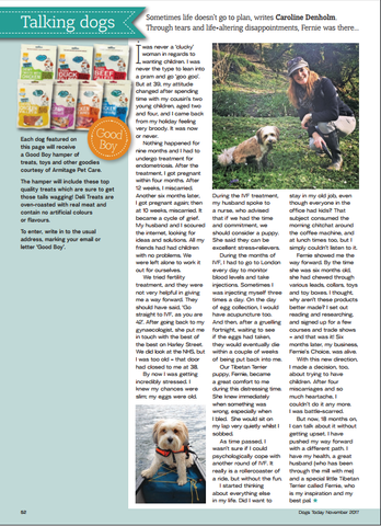 Fernie Denholm from Fernie's Choice Posh Dog Boutique tells her story in Dogs Today November Issue 2017