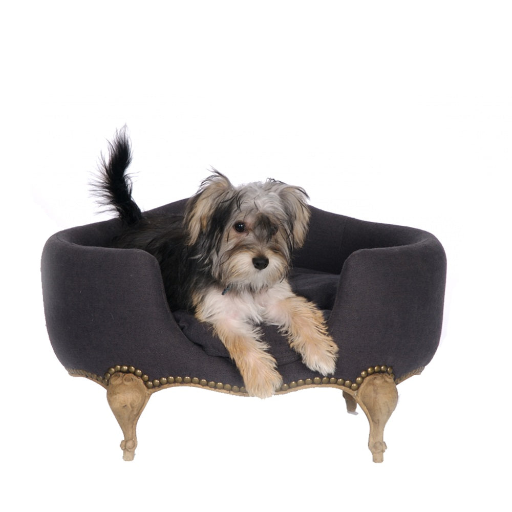 Lord Lou Luxury Dog Bed - Antoinette  - Anthracite - Fernie's Choice Classic Country Wear for Dogs