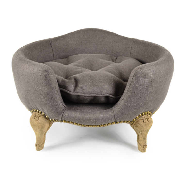 Lord Lou Luxury Dog Bed - Antoinette  - Charcoal Brown - Fernie's Choice Classic Country Wear for Dogs