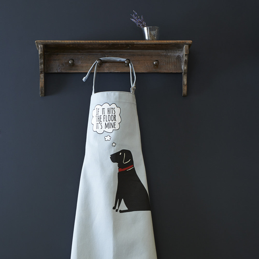 Black Labrador Dog Apron - Adjustable Neck - For Men & Women