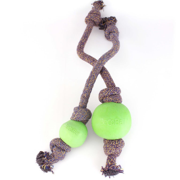 Beco Ball On A Rope - Natural Dog Toy from Fernie's Choice