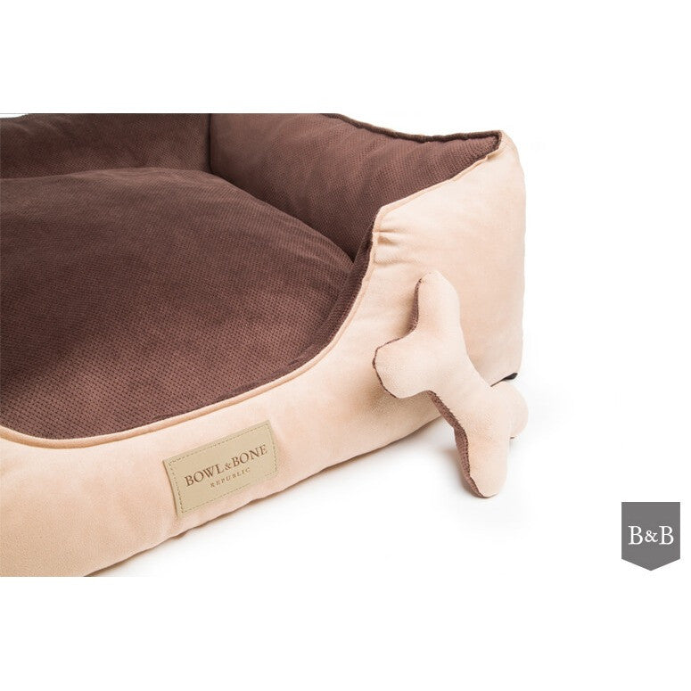 Classic Brown Dog Bed by Bowl and Bone