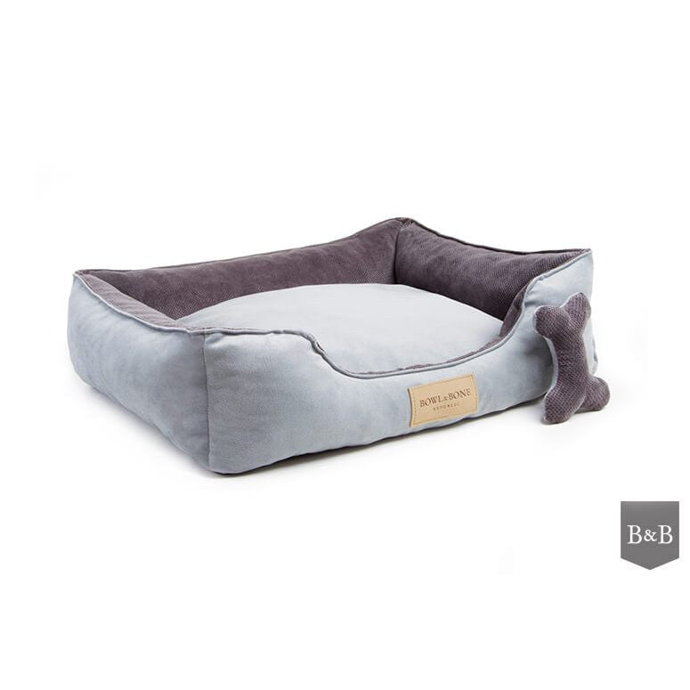 Classic Grey Dog Bed by Bowl and Bone - Luxury Dog Bed