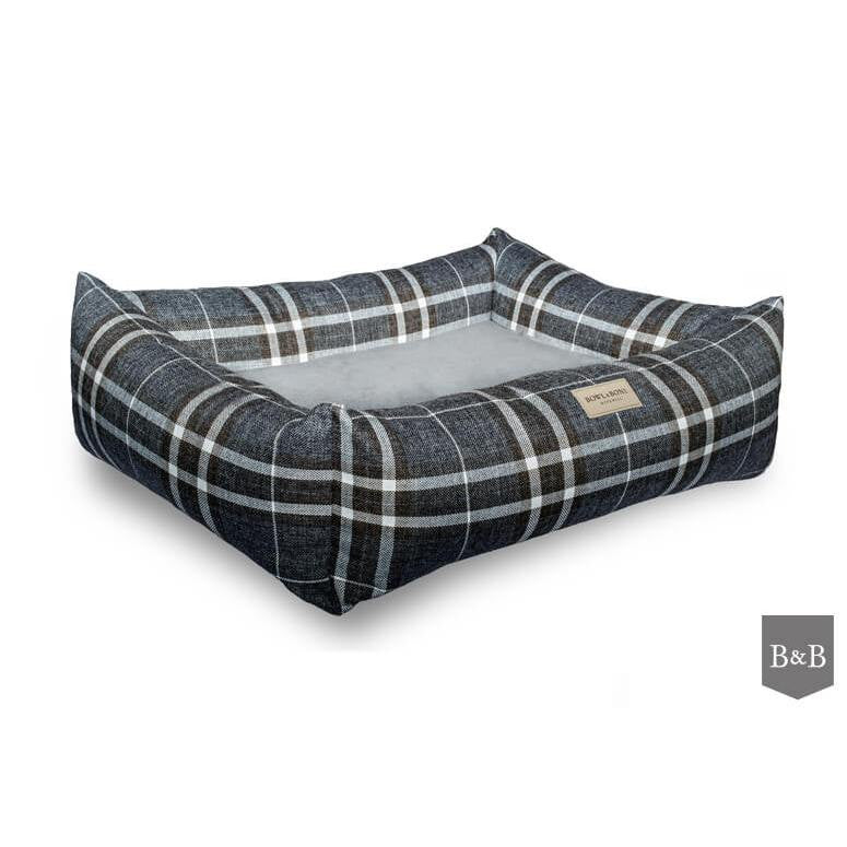 Bowl and Bone Scott Blue Dog Bed - Luxury Dog Bed