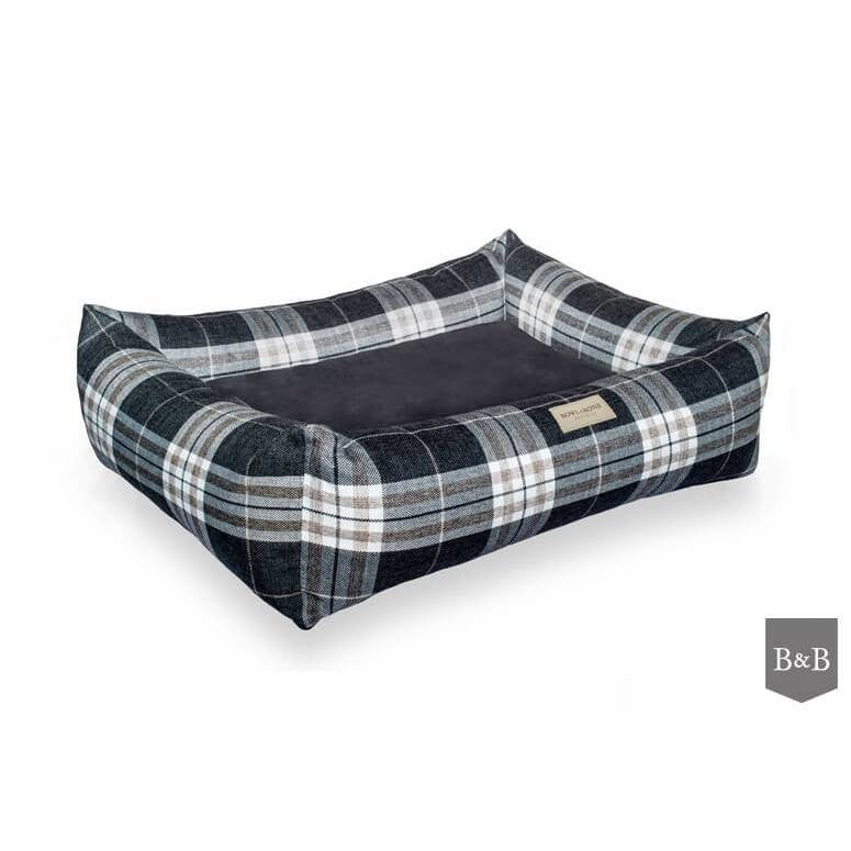 Bowl and Bone Scott Grey Dog Bed - Fernie's Choice Classic Country Wear for Dogs