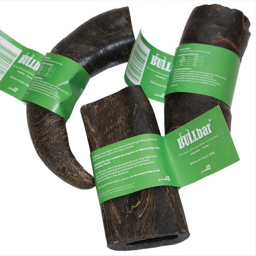 Pure Dog Bullbar Horn Dog Chew - Fernie's Choice Classic Country Wear for Dogs