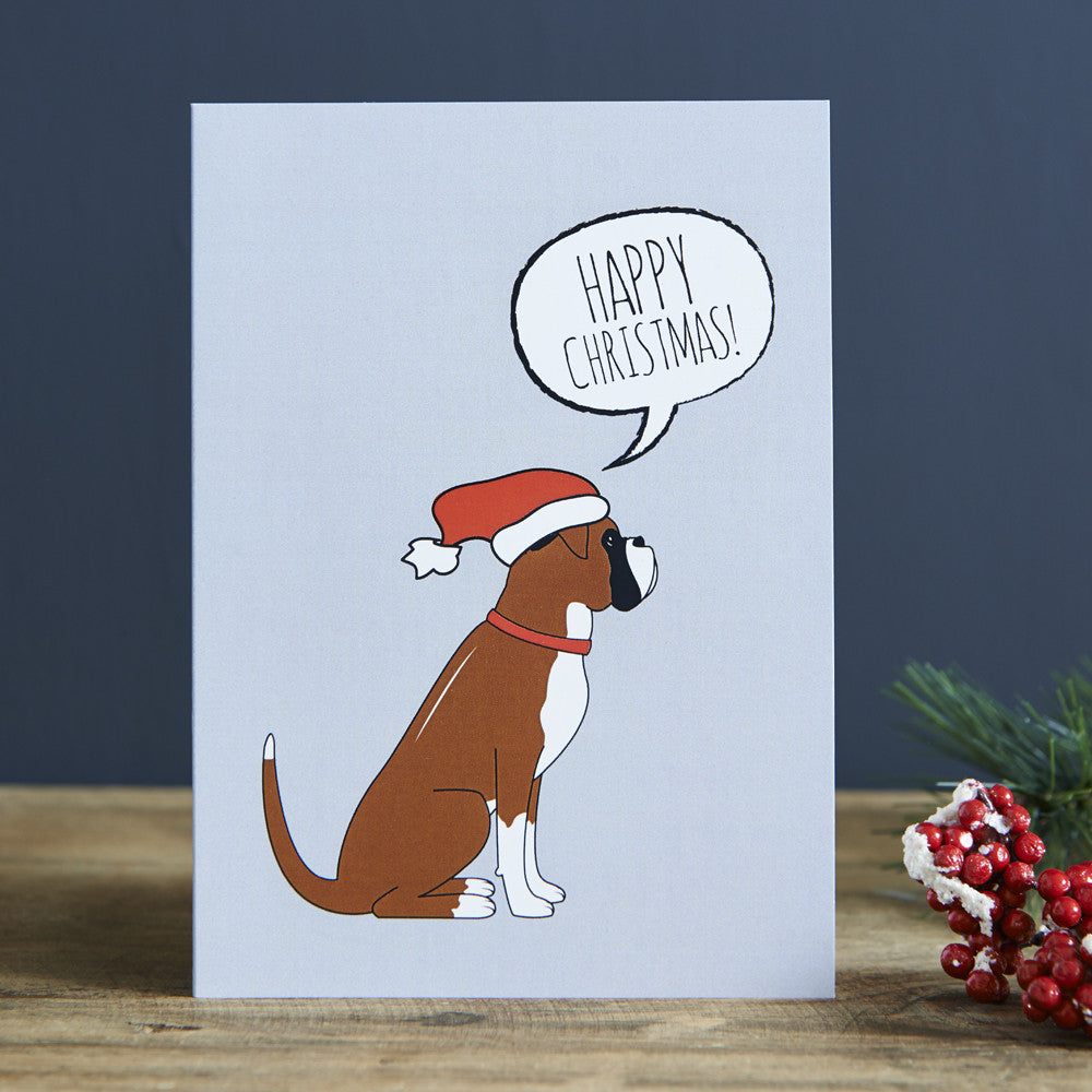 BOXER CHRISTMAS CARD - Fernie's Choice Classic Country Wear for Dogs