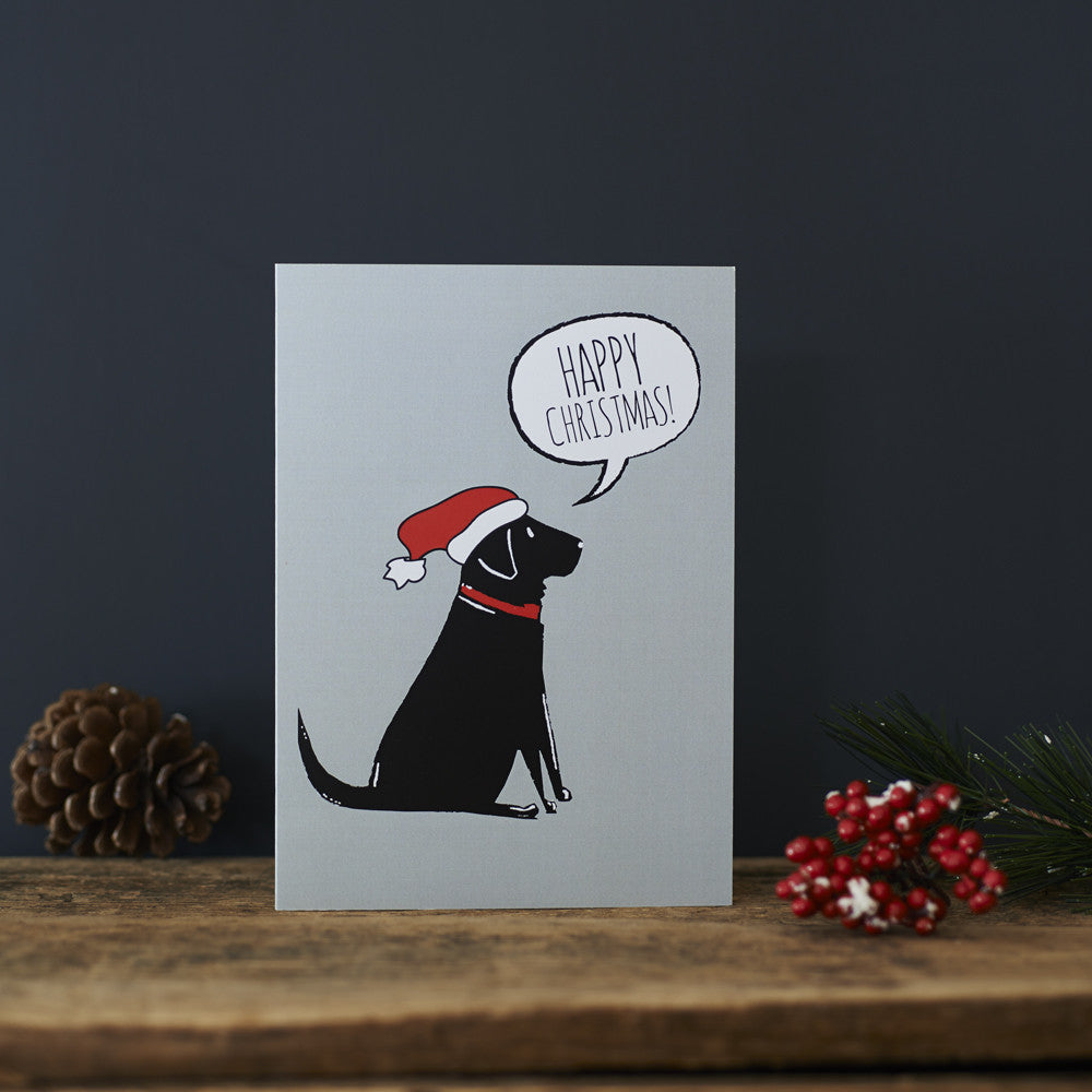 BLACK LABRADOR CHRISTMAS CARD - Fernie's Choice Classic Country Wear for Dogs