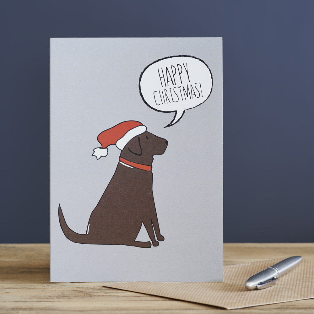 CHOCOLATE LABRADOR CHRISTMAS CARD - Fernie's Choice Classic Country Wear for Dogs