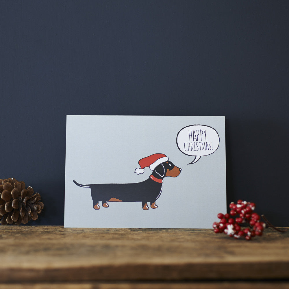 DACHSHUND CHRISTMAS CARD - Fernie's Choice Classic Country Wear for Dogs
