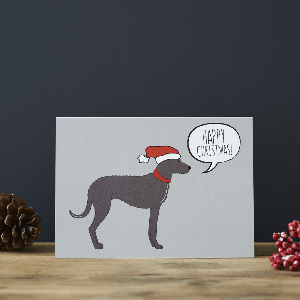 LURCHER CHRISTMAS CARD - Fernie's Choice Classic Country Wear for Dogs