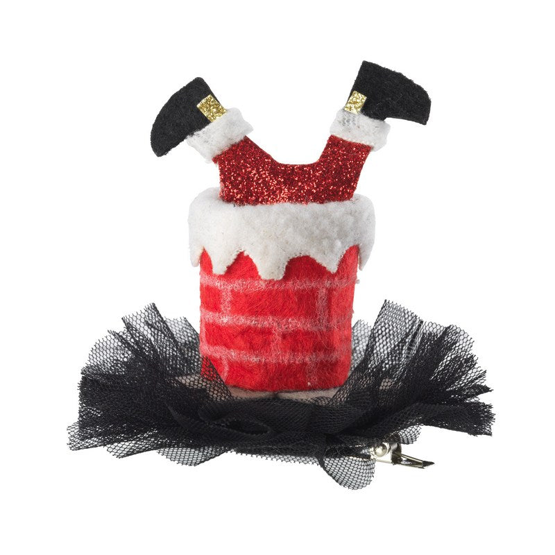 Dog Party Hat- Mini Santa stuck down the Chimney - Fernie's Choice Classic Country Wear for Dogs