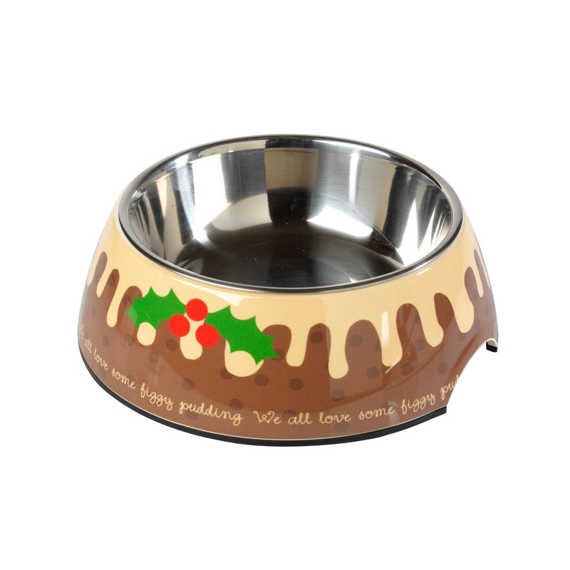 Christmas Figgy Pudding Dog Bowl - Fernie's Choice Classic Country Wear for Dogs