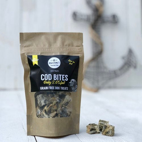Armstrong's Twisted Fish - Cod Bite Treats for Dogs 75g - Fernie's Choice Classic Country Wear for Dogs