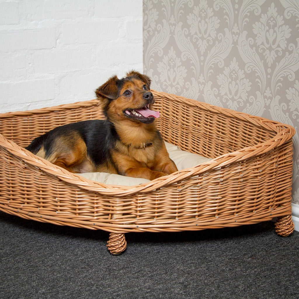 Corner Wicker Dog Bed - Fernie's Choice Classic Country Wear for Dogs