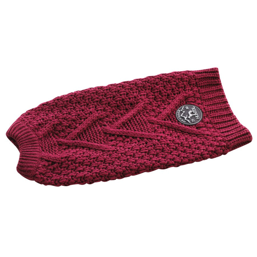 Hunter Dog Jumper Malmö - Bordeaux. Fernie's Choice. Luxury Dog Shop.