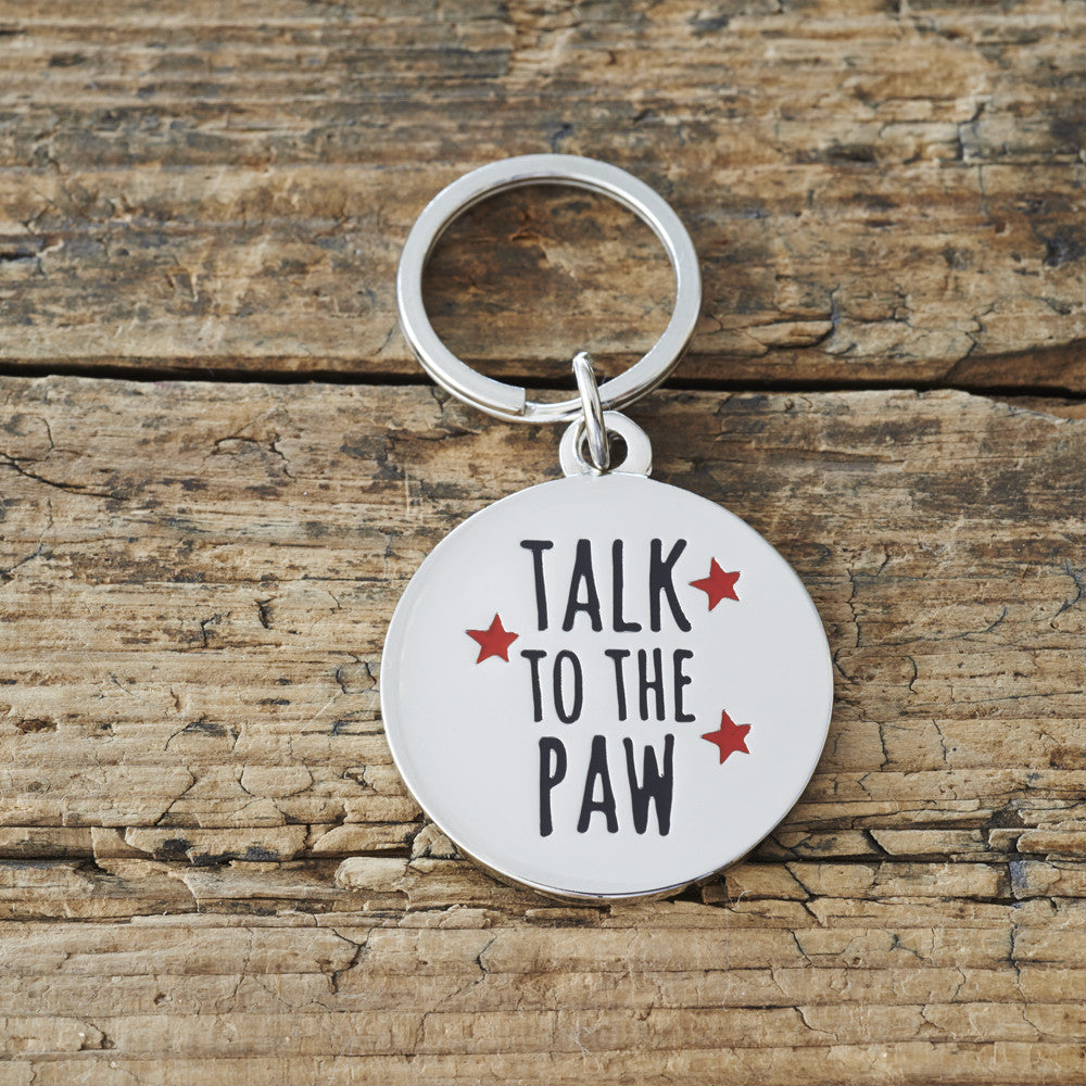 """Talk to the paw"" DOG ID TAG - Fernie's Choice"