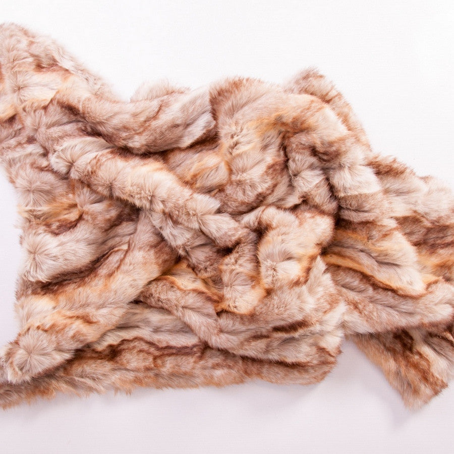 Faux Fur Luxury Pet Blanket - Light Sahara - Fernie's Choice Classic Country Wear for Dogs