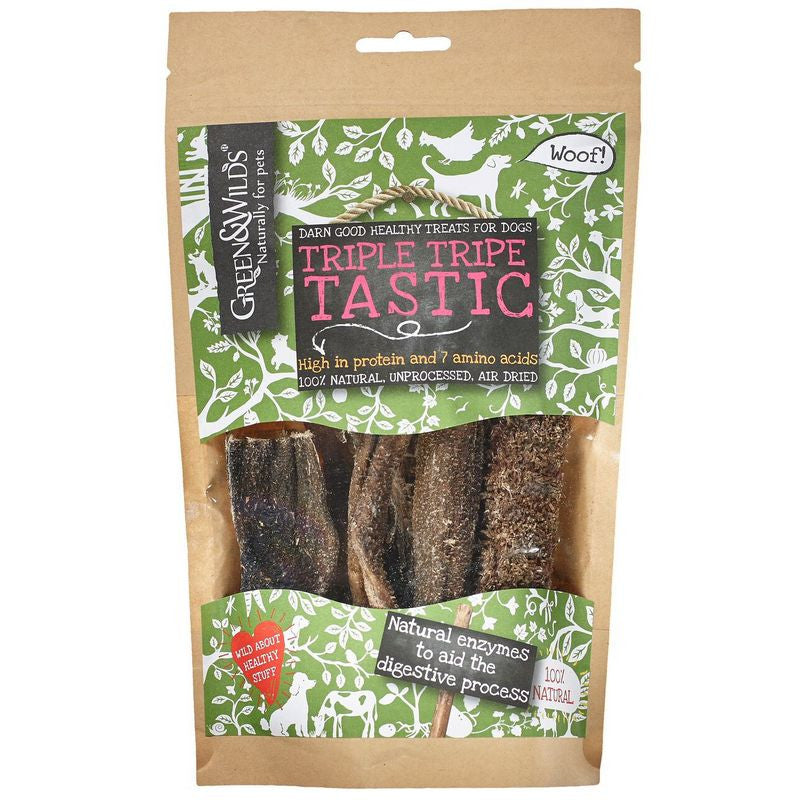 Green & Wilds Triple Tripe Tastic Dog Chews - Fernie's Choice Classic Country Wear for Dogs