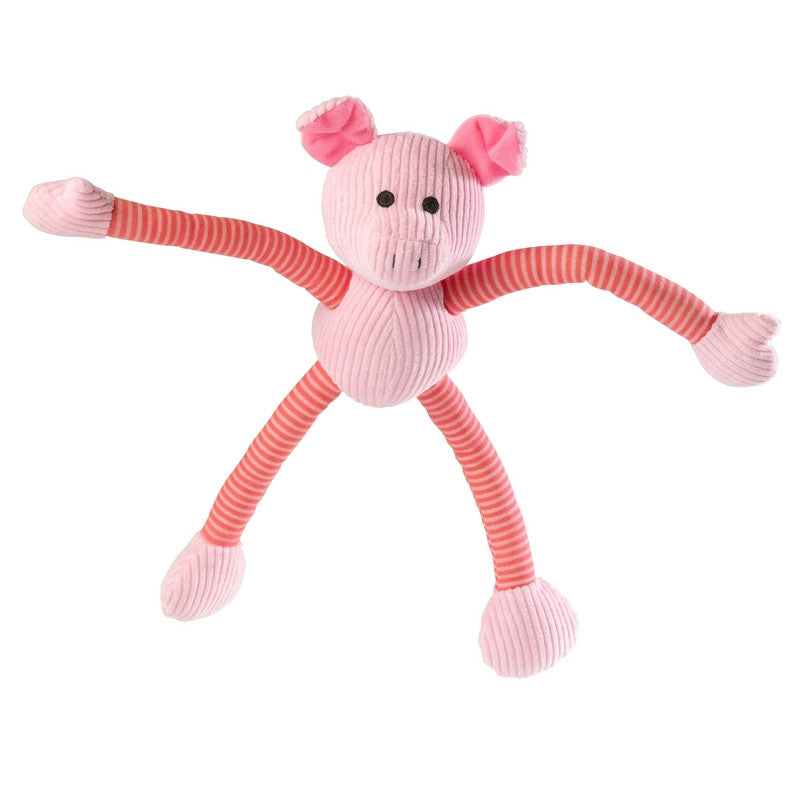 Piggy Long Legs Stripe Cord Dog Toy - Fernie's Choice Classic Country Wear for Dogs