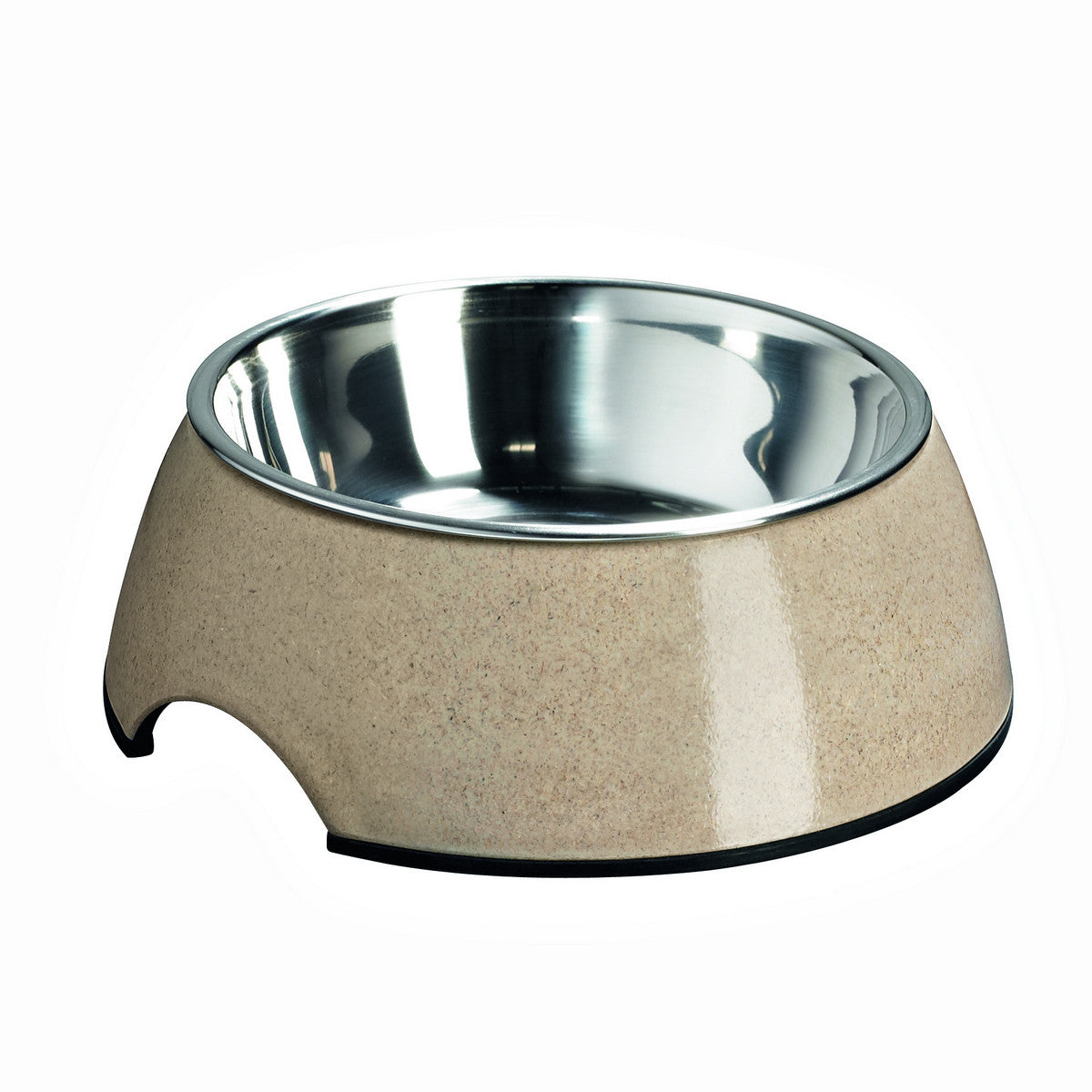 Melamine Bamboo Dog Bowl - Natural - Fernie's Choice Classic Country Wear for Dogs