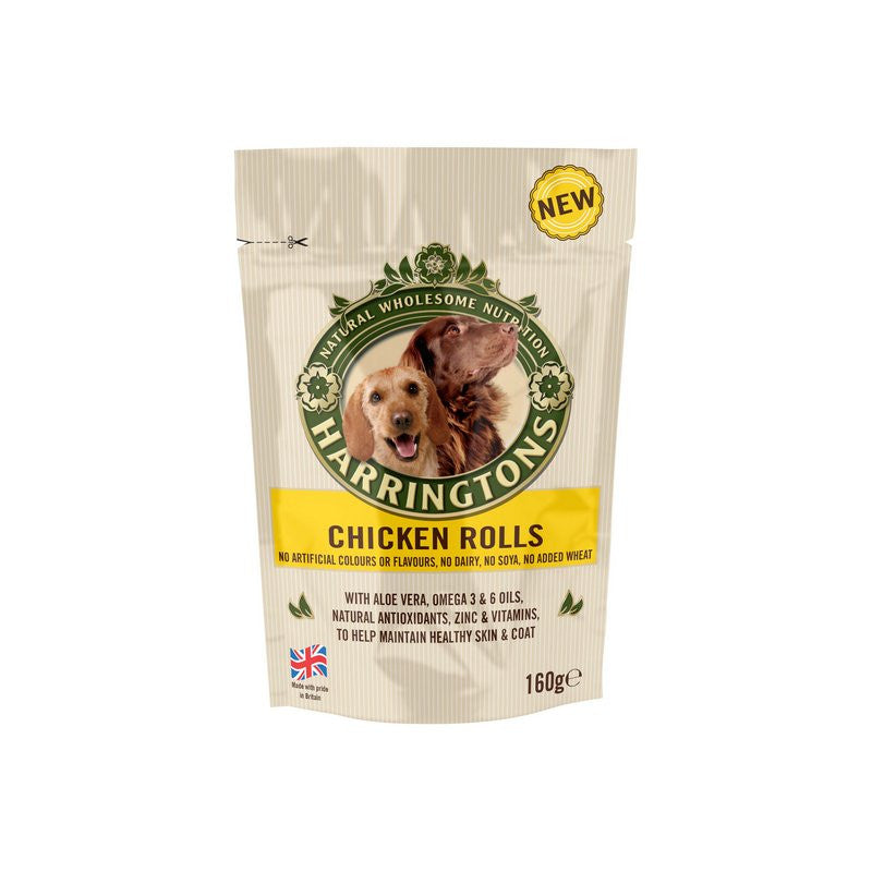 Harringtons Chicken Rolls Dog Treats 160g - Fernie's Choice Classic Country Wear for Dogs