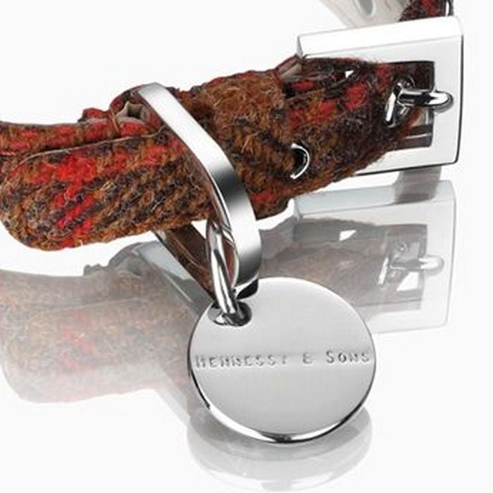 Harris Tweed Collar  - Luxury Rust Collar - Fernie's Choice Classic Country Wear for Dogs