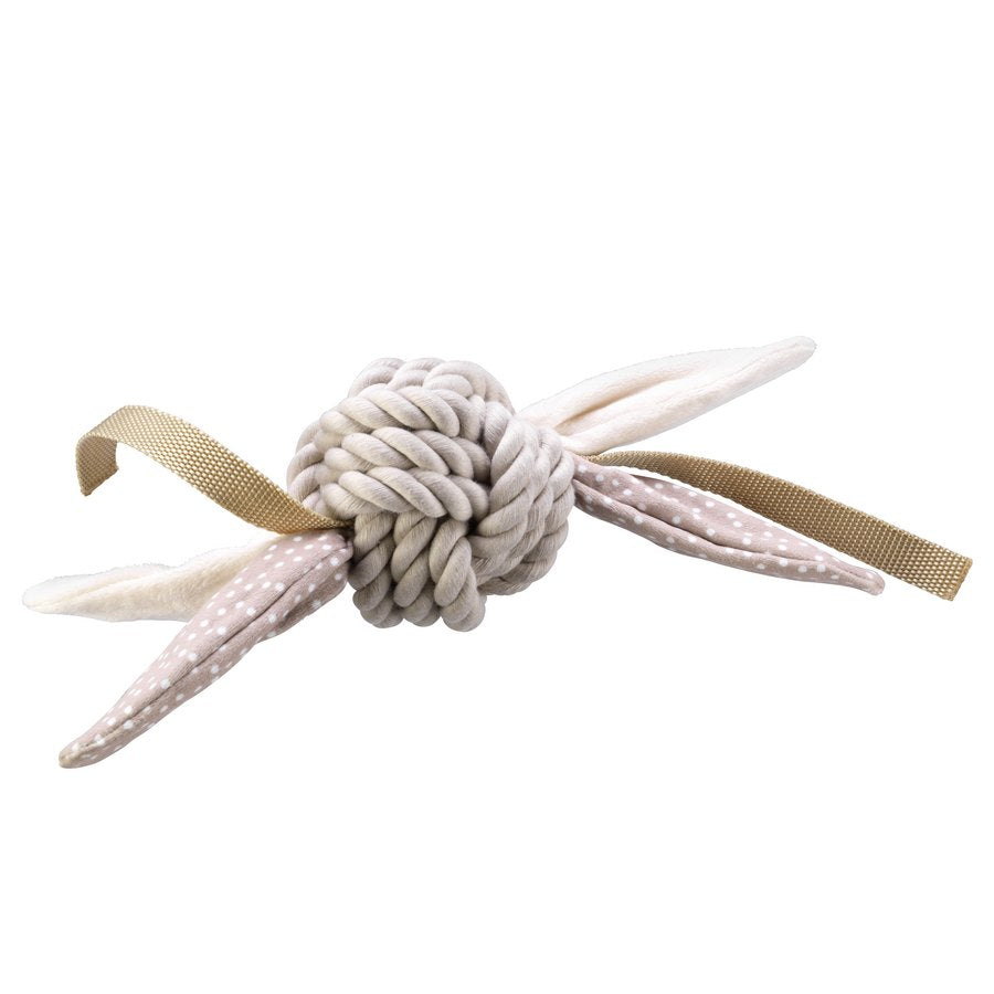 Rope Ball with Tags in Brown - Fernie's Choice Classic Country Wear for Dogs