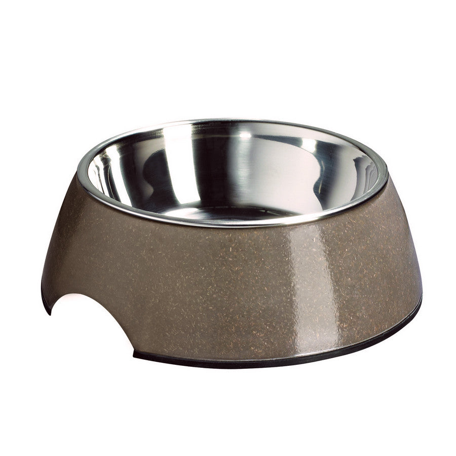 Melamine Bamboo Dog Bowl - Coffee - Fernie's Choice Classic Country Wear for Dogs