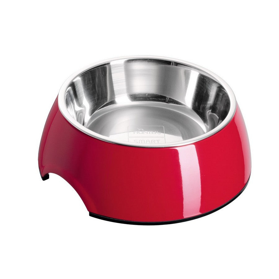 Hunter Melamine Red Dog Bowl - Variety of Colours & Sizes -350ml & 700ml from Fernie's Choice
