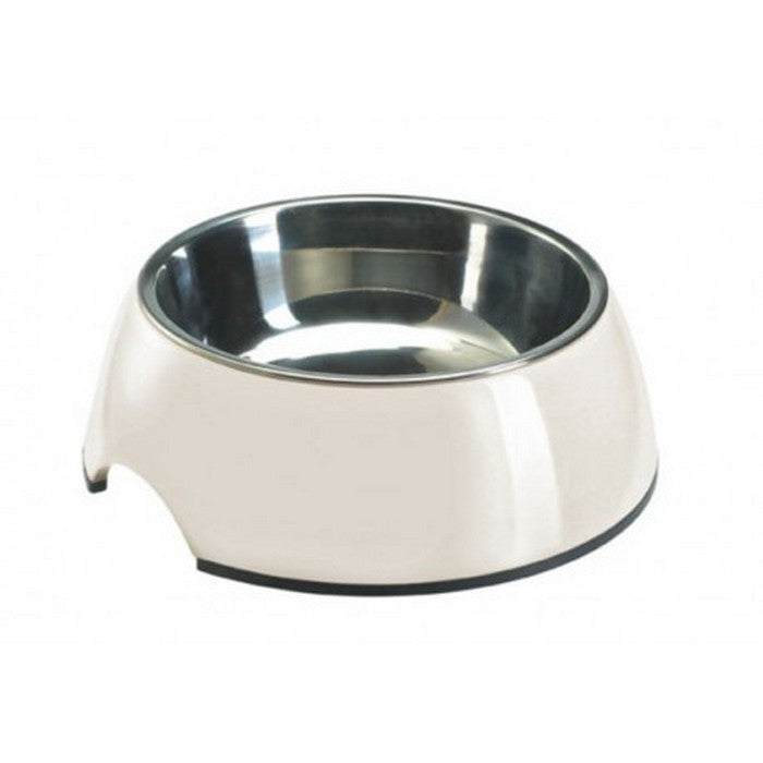Melamine White Dog Bowl - Fernie's Choice Classic Country Wear for Dogs