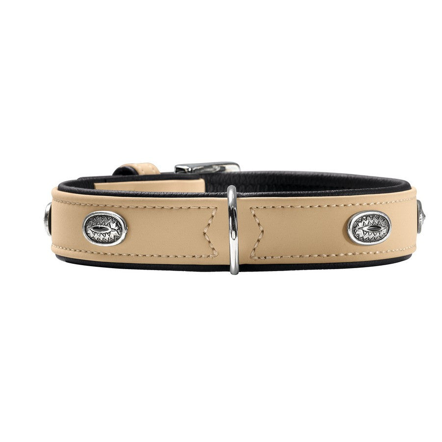 Hunter Art Nubuck Beige Stone Collar - Fernie's Choice Classic Country Wear for Dogs