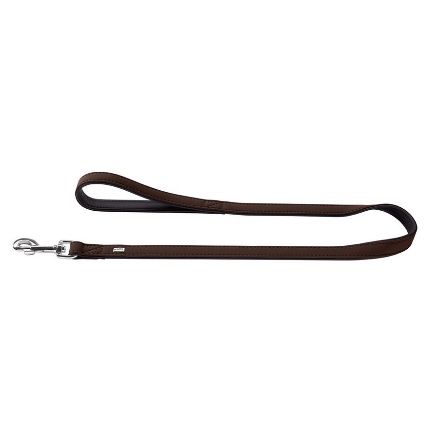 Hunter Art Nubuck Brown Leather Lead - Fernie's Choice Classic Country Wear for Dogs