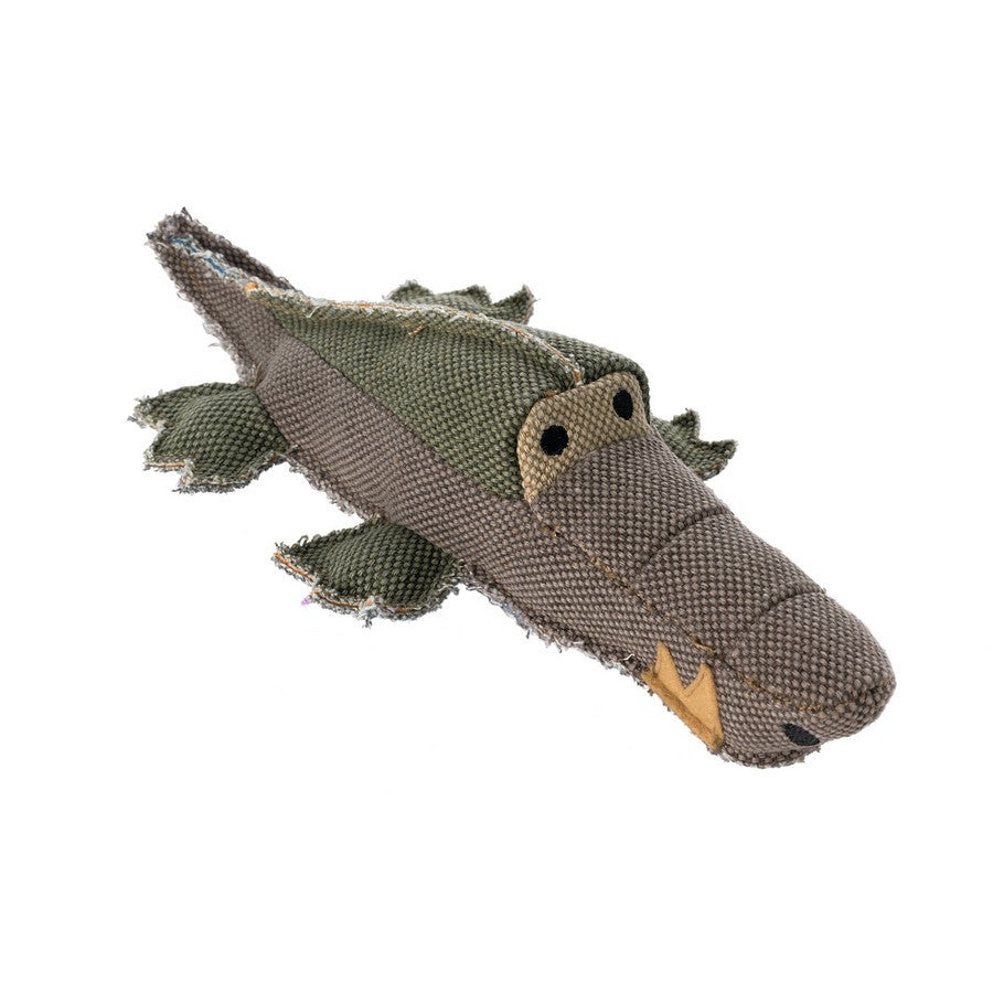 Hunter Dog Toy Canvas Crocodile - Fernie's Choice Classic Country Wear for Dogs