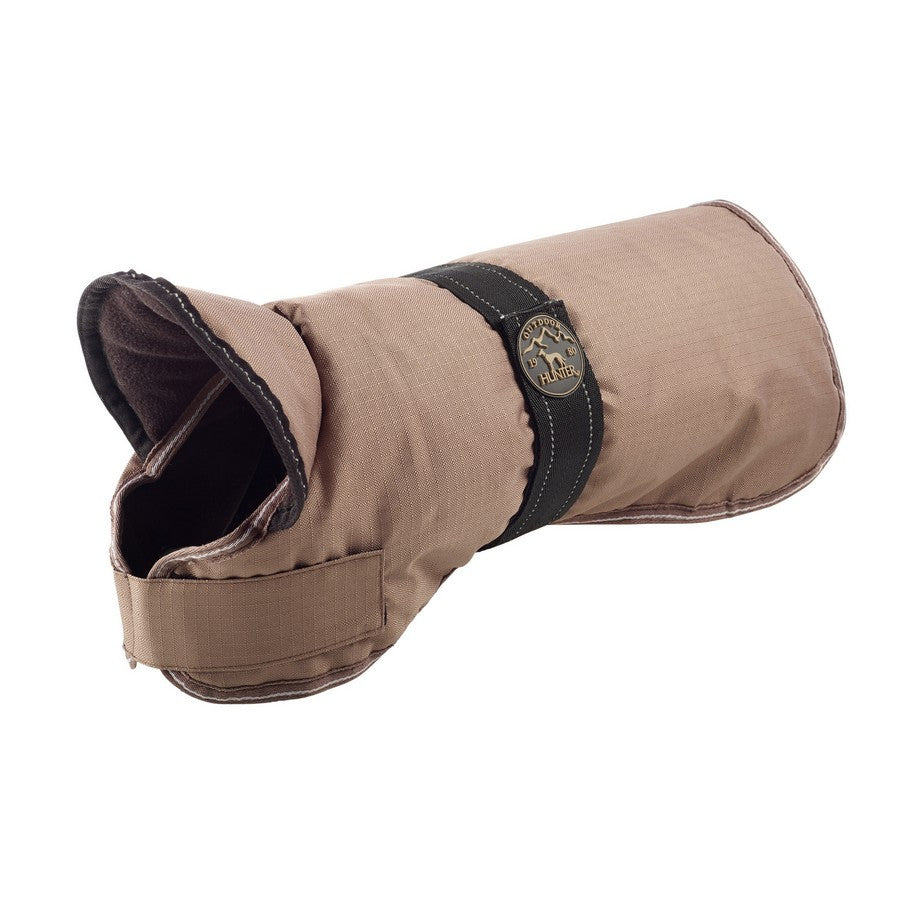 Hunter Denali Taupe Dog Coat - Fleeced Lined - Reflective & Water Resistant - Fernie's Choice