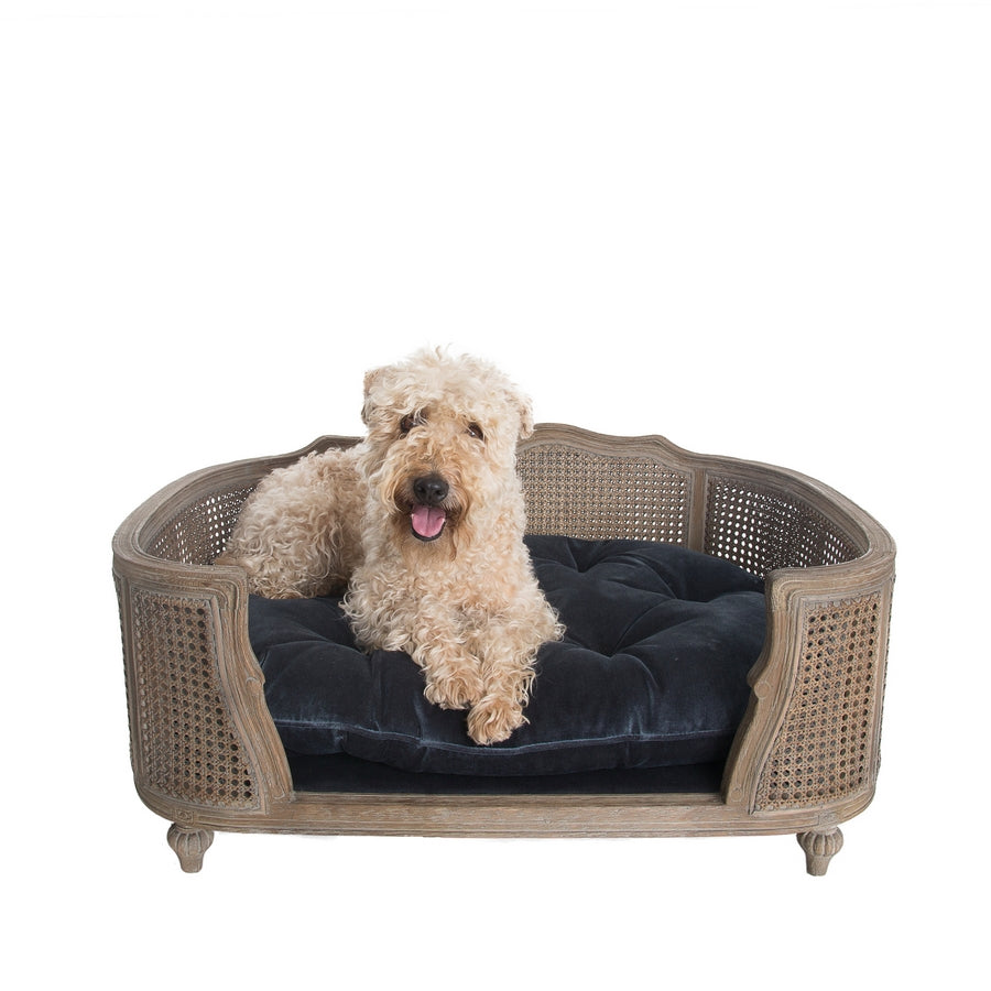 Lord Lou Luxury Dog Bed - Arthur - Arthur Royal Blue Velvet (W) - Fernie's Choice Classic Country Wear for Dogs
