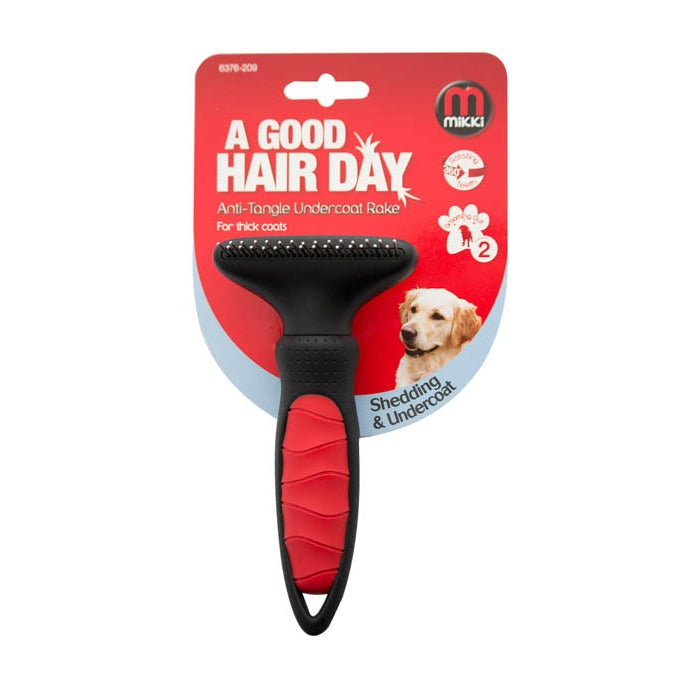 Mikki Undercoat Rake for Thick Coats - Fernie's Choice. Posh Dog Boutique. Grooming Products