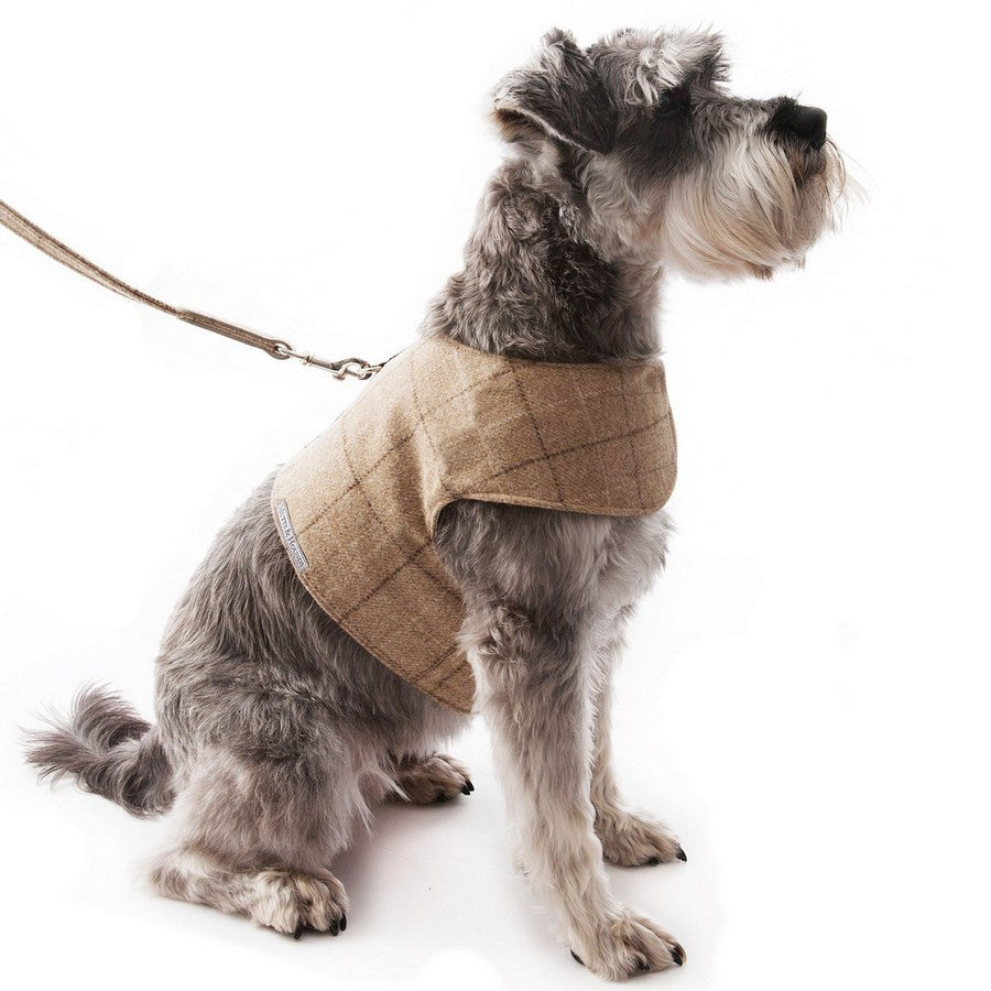 Oatmeal Check Tweed Harness Large - Fernie's Choice Classic Country Wear for Dogs