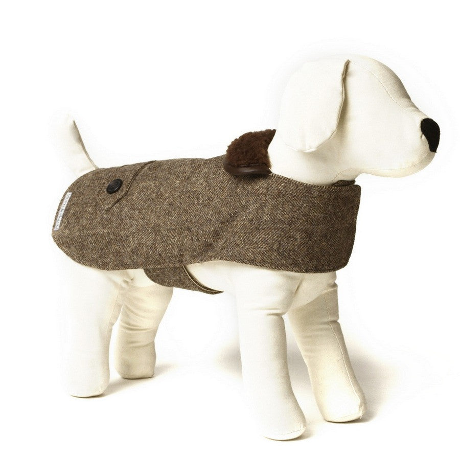 Mutts & Hounds Herringbone Tweed Dog Coat - Country Style for Dogs - Fernie's Choice